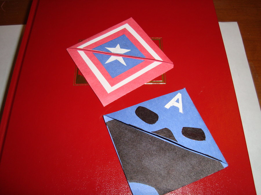 6 Images of Captain America Printable Bookmark