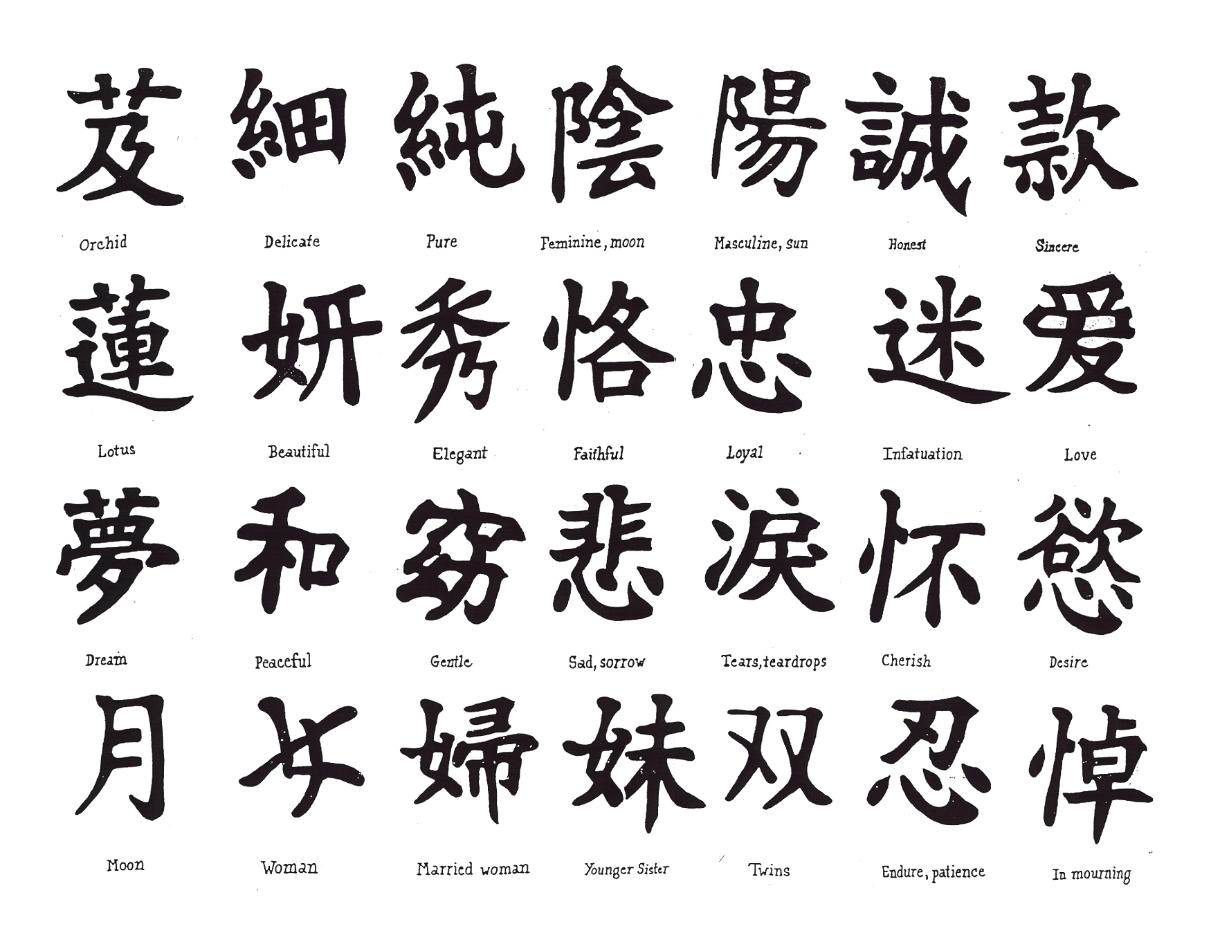 7 Images of Japanese Symbols Free Printable