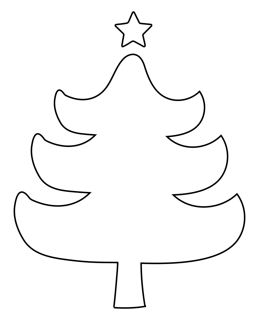 7 Images of Christmas Tree Cut Out Pattern Printables