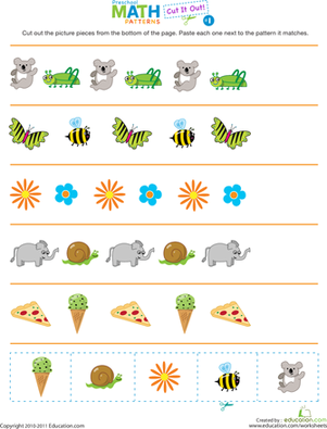 6 Images of Pattern Cutting Worksheets Printables Kindergarten