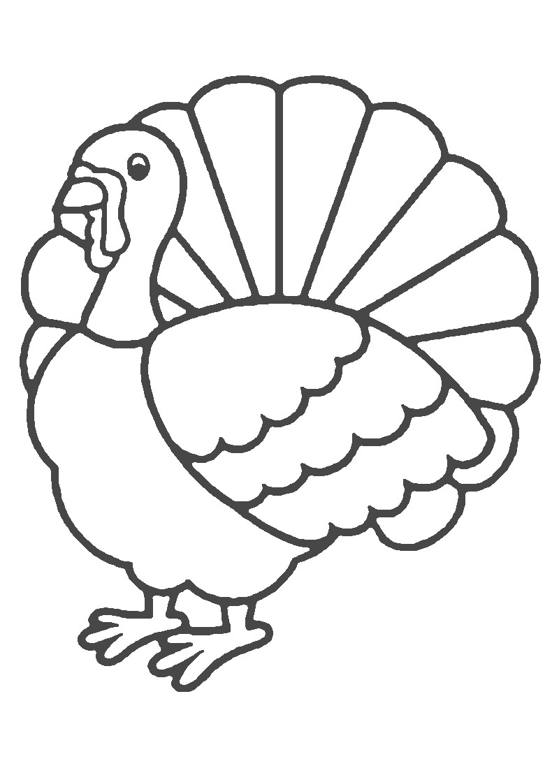 4 Images of Cartoon Turkey Coloring Page Printable
