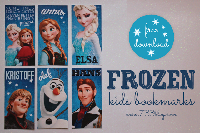 6 Images of Frozen Bookmarks Printables