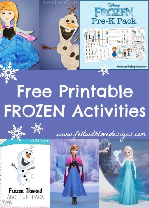 Disney Frozen Printable Crafts