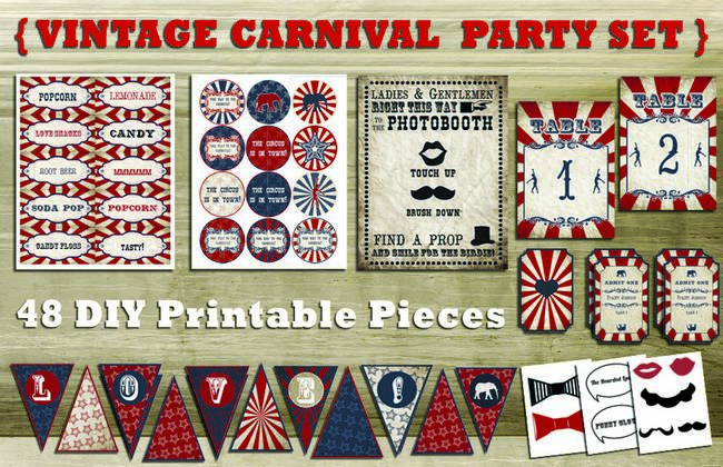 4 Images of Vintage Carnival Printables