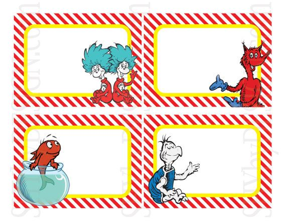 Free Printable Dr Seuss Food Labels