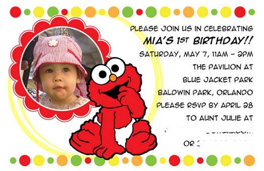 elmo st birthday invitations printable free  wedding invitation, Birthday invitations