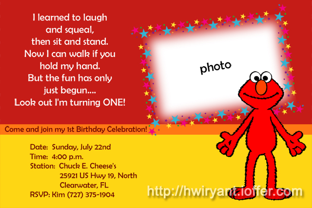 9 best images of elmo first birthday printable elmo for Elmo template for invitations