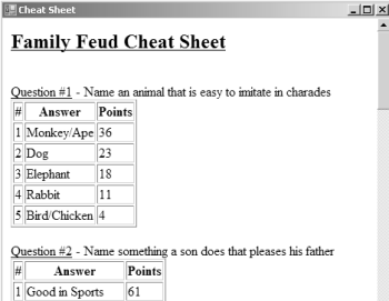 Dramatic image inside family feud questions and answers printable