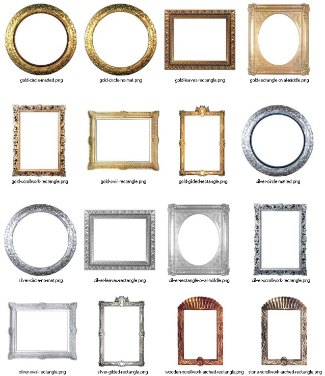 4 Images of Frames Printable Scrapbooking Templates