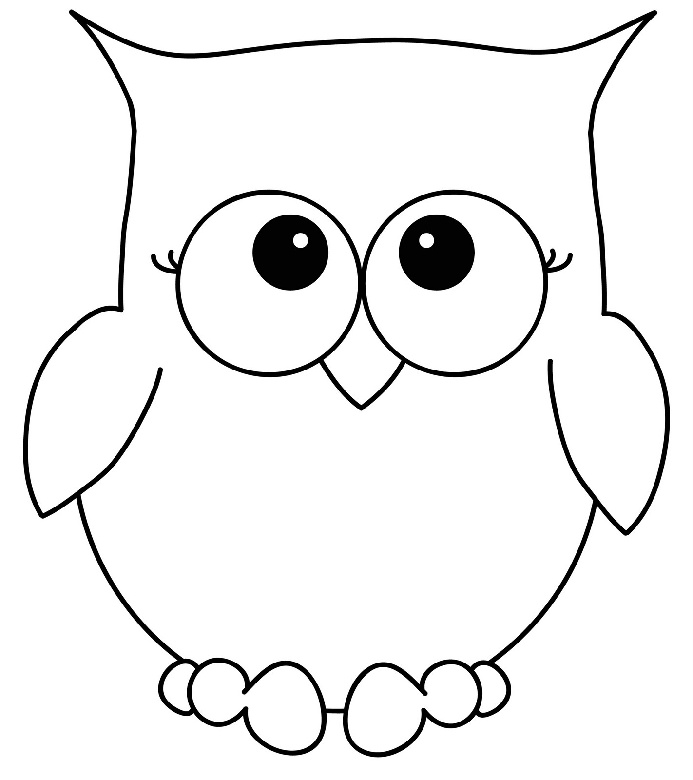 8 Best Images of Black And White Owl Printables - Owl ...