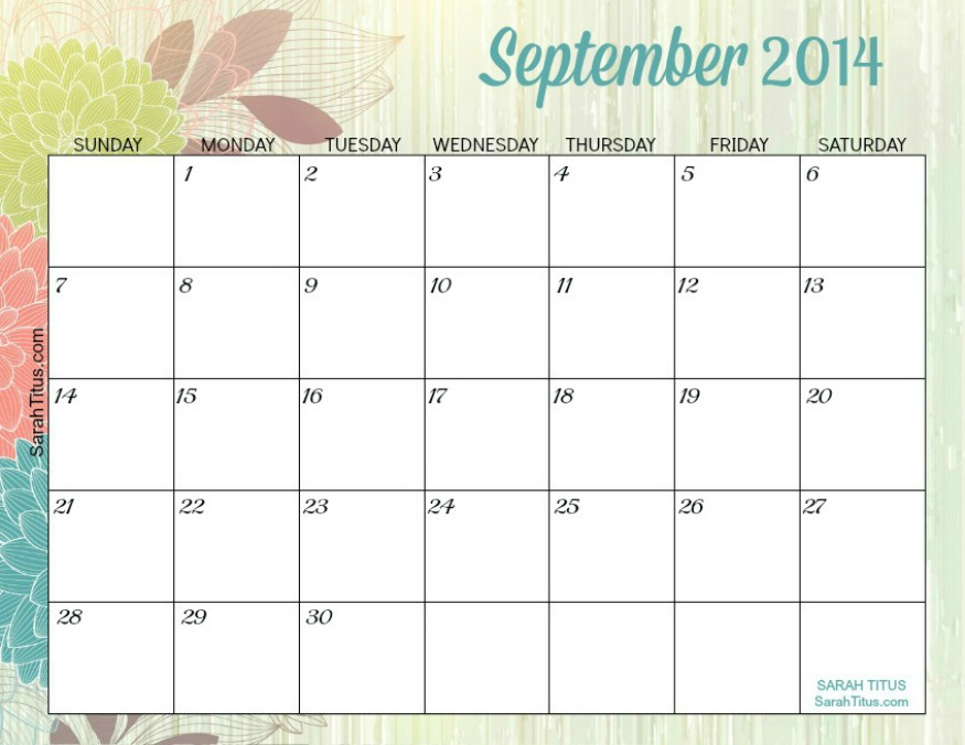 8 best images of printable monthly calendars september