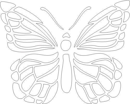 7 Images of Wall Butterfly Stencils Printable