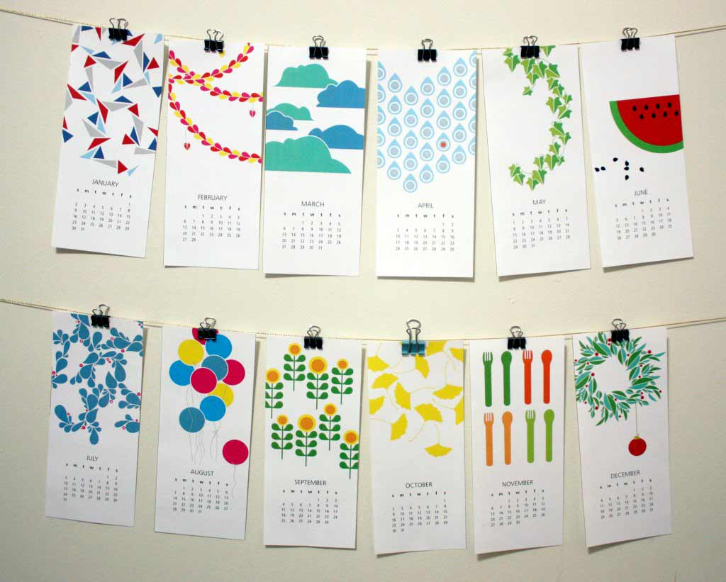 7 Images of Creative Calendars Printable