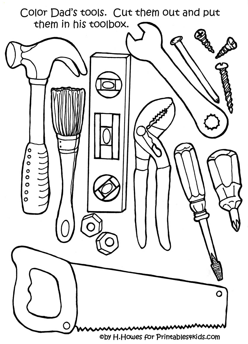 6 Images of Printable Father's Day Tools