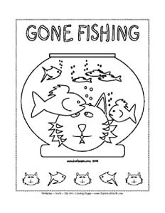 Free Printable Gone Fishing Coloring Pages
