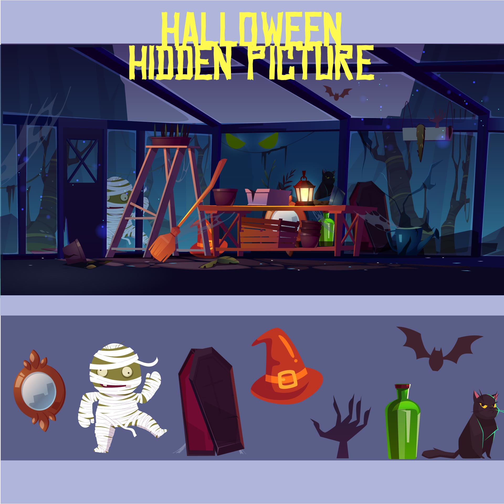 Printable Halloween Find Hidden Objects
