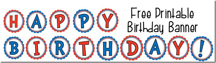 happy birthday banner printable free