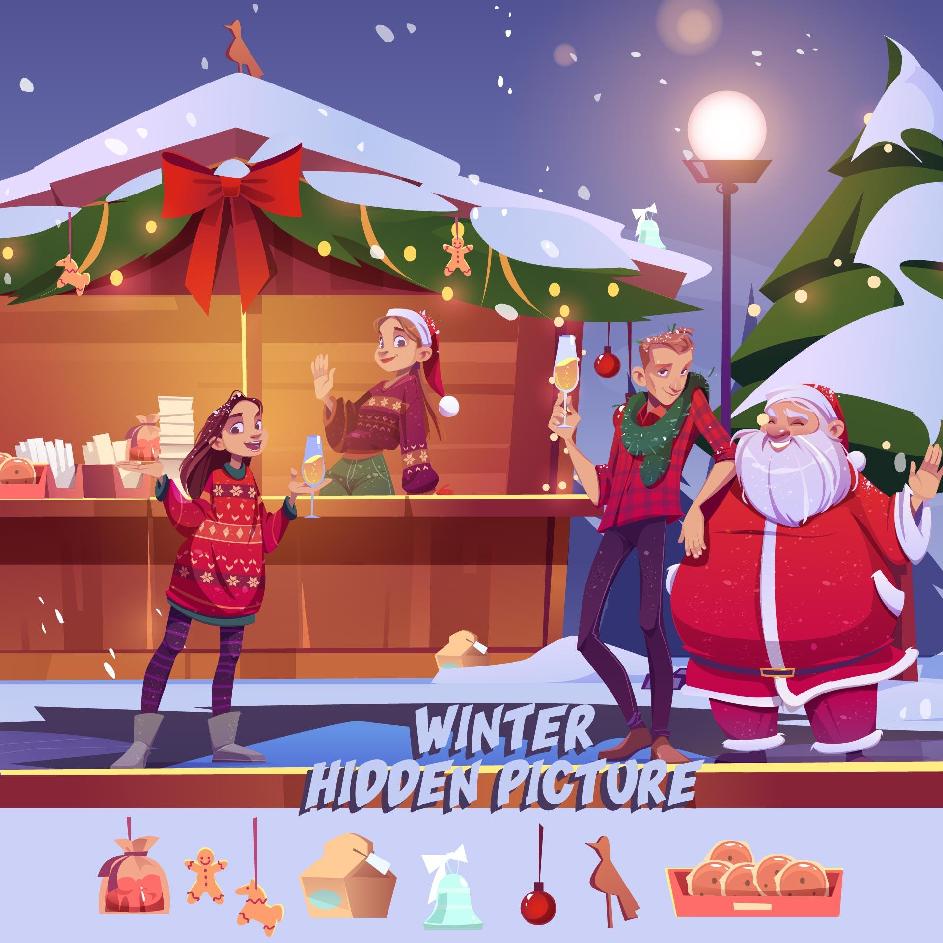 Printable Hidden Pictures Winter