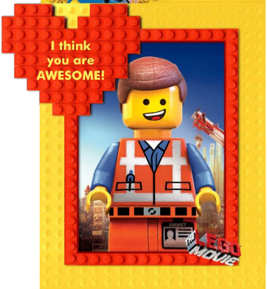 5 Images of Happy Birthday Cards Printable The LEGO Movie