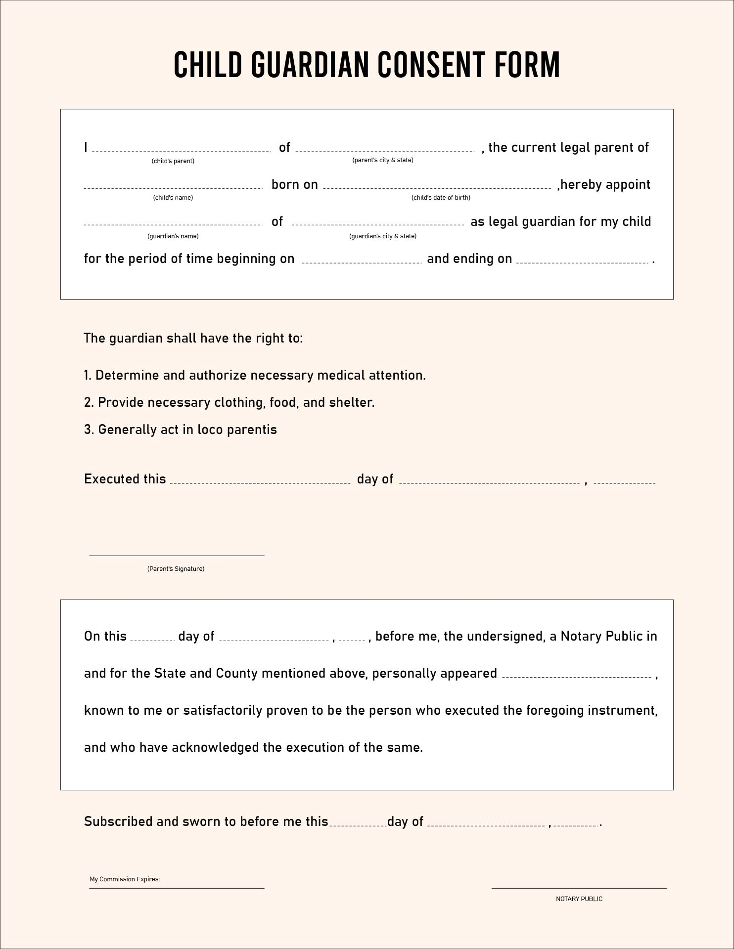 Doc Printable Medical Release Form for Children Free – Sample Medical Consent Form