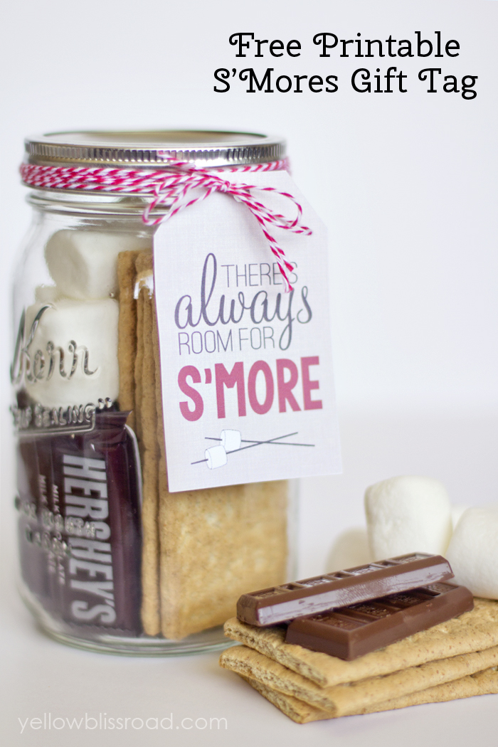 5 Images of Birthday S'mores Gift Tag Printable