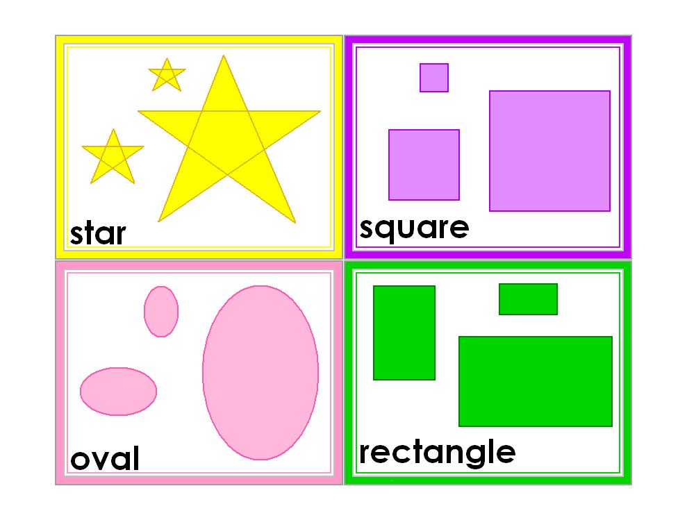 free printable preschool flash cards 6 best images of kindergarten shapes flash cards printable 77023