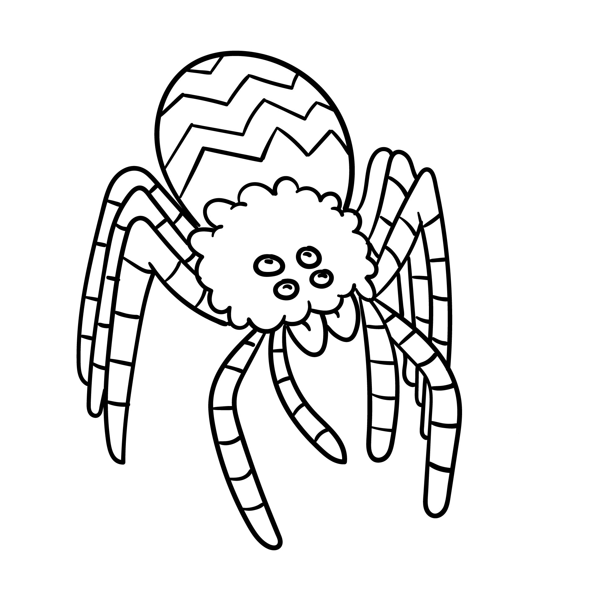 printable halloween spider coloring pages - photo#23