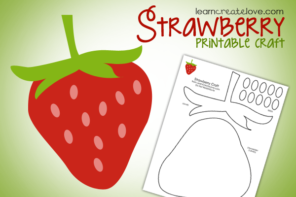 Free Printable Strawberry Craft