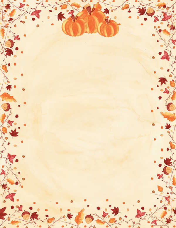 4 Images of Free Printable Thanksgiving Stationary