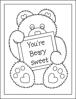 5 Images of Cute Printable Valentine Coloring Cards