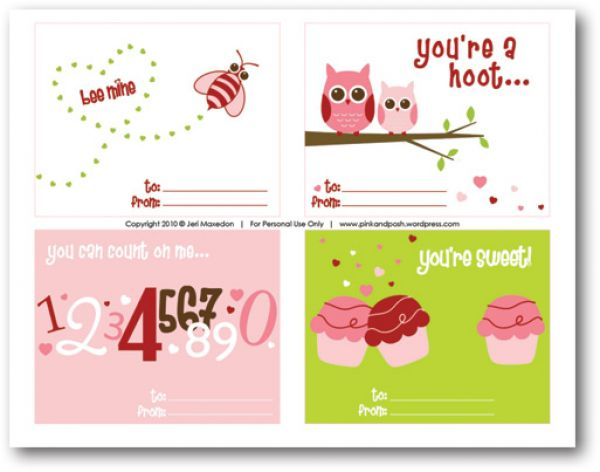 8 Images of Free Printable Valentine's Cards