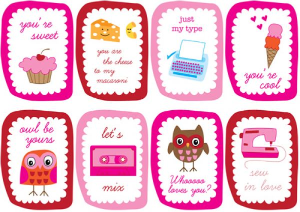 8 Images of Valentine's Day Printable Cards For Kids