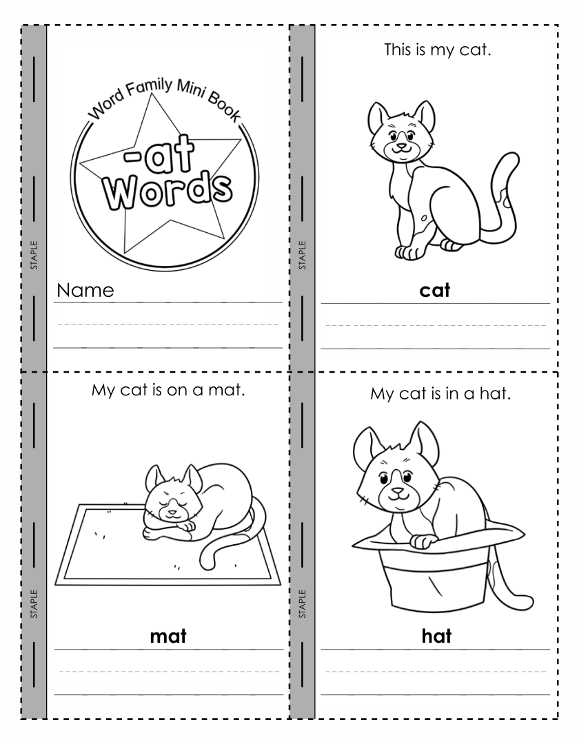 Printable Word Family Book