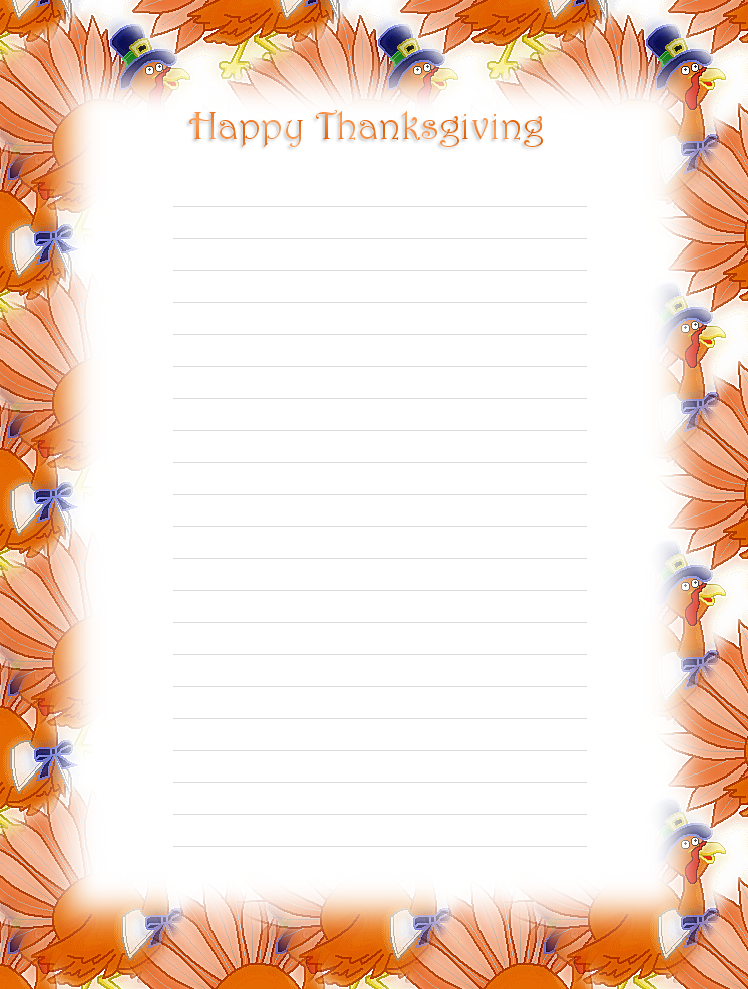 6 Images of Free Printable Thanksgiving Stationery