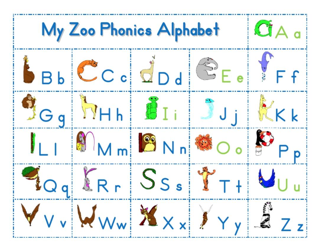 Zoo Phonics Worksheets - Davezan