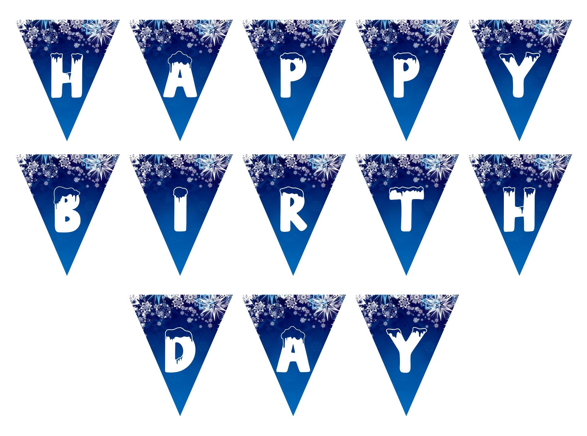 8 Best Printable Frozen Banner Happy Birthday Printablee Com