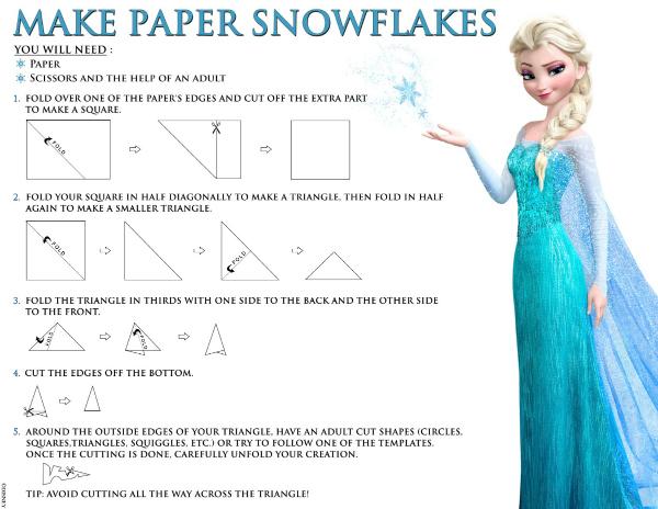 Frozen Make Paper Snow Flakes