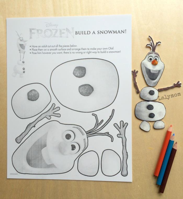 Frozen Olaf Printable Crafts