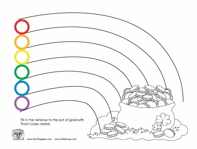 9 Images of Fruit Loop Rainbow Printable Pattern