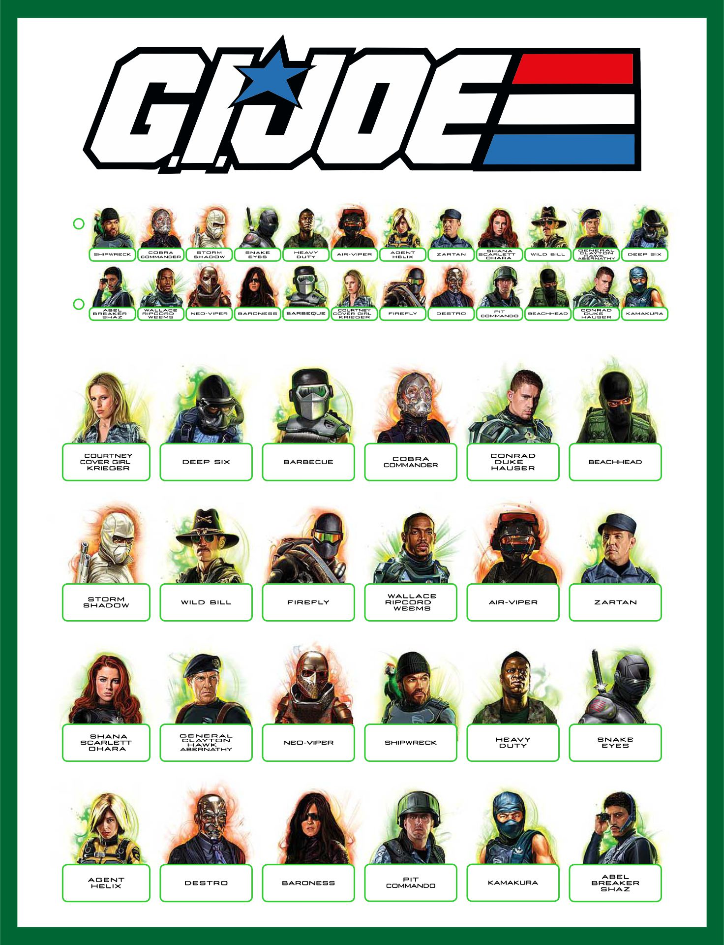 Best Images Of Guess Who Game Sheets Printable Character