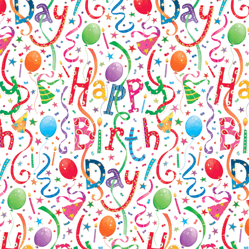 Happy Birthday Gift Wrapping Paper