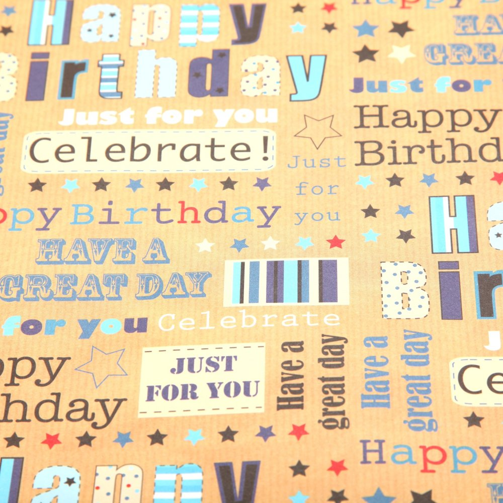 Happy Birthday Printable Wrapping Paper