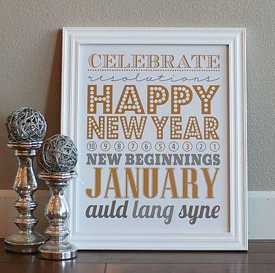 Happy New Year Subway Art Printable