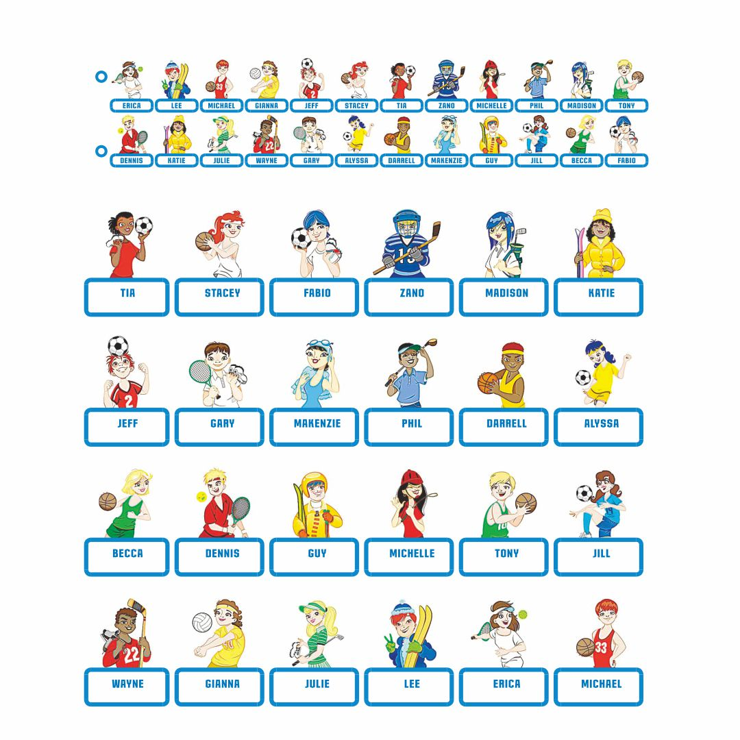 Hasbro Guess Who Character Sheets