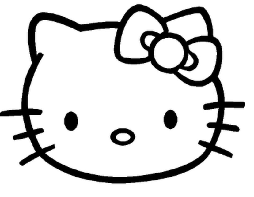 5 Images of Hello Kitty Printable Face Template