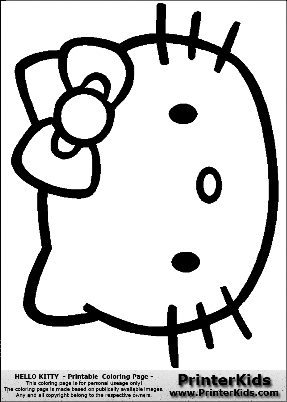 hello kitty cut out template - hello kitty face template gallery