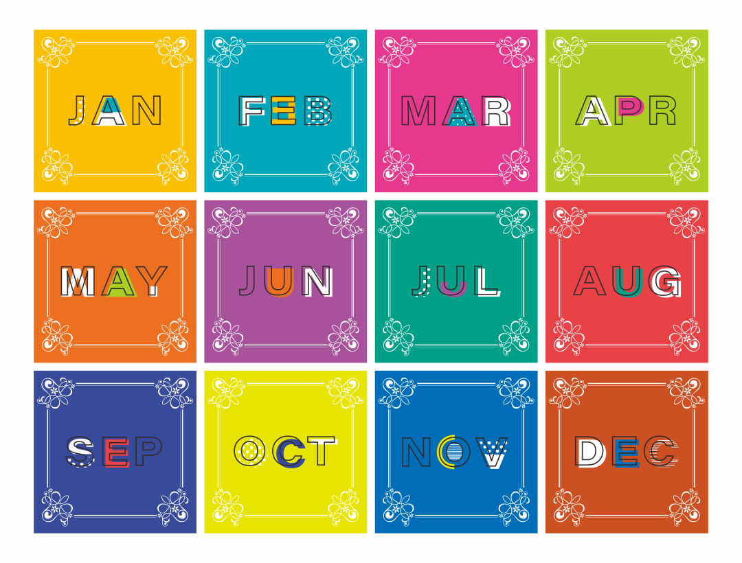 January Month Clip Art