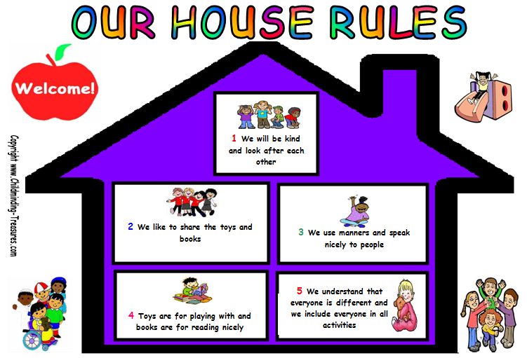 8 Images of Printable House Rules Chart