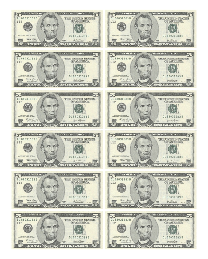 7 Images of Printable Money That Looks Real