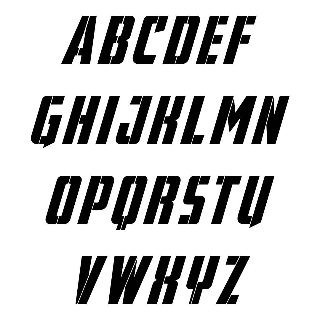 Large Alphabet Letters Printable Stencils